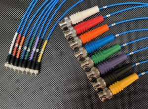 Coloured Accelerometer cables